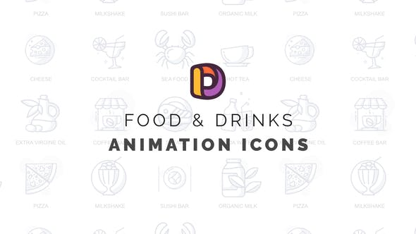 Food & Drinks - Animation Icons