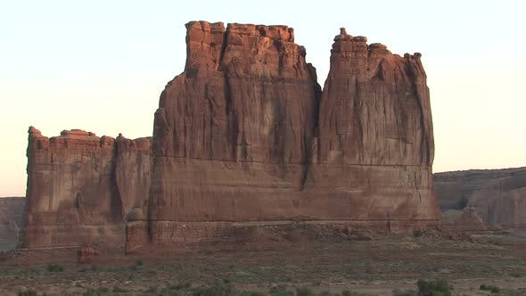 Thumbnail for Desert in Spring Sunrise Morning Rock Outcropping Wall Cliff Geology