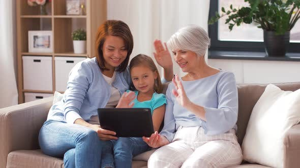 Thumbnail for Mother, Daughter and Grandmother with Tablet Pc 6