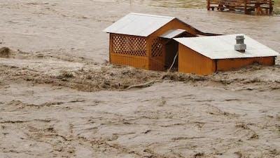 Flooding, River Overflowing, Ecological Disaster, Global Warming Problem