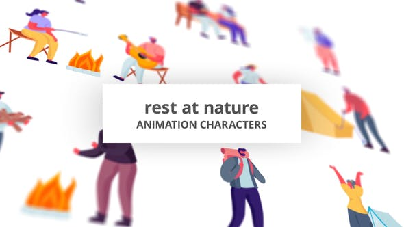 Rest at Nature - Character Set