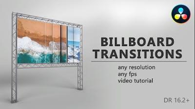 Billboard Transitions for DaVinci Resolve
