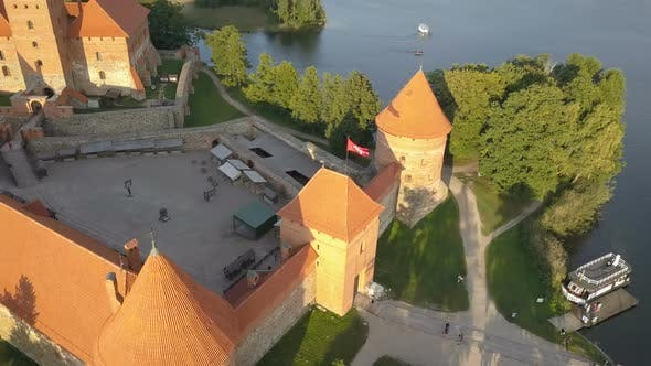Thumbnail for Aerial View of Trakai Castle in Summer Season