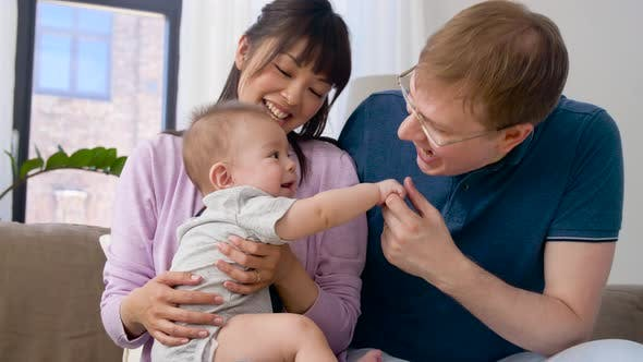 Thumbnail for Happy Family with Baby Boy at Home 34