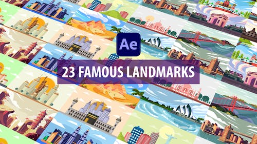 Famous Landmark Animation | After Effects