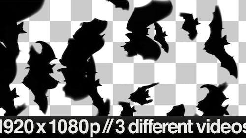 Fledermäuse fliegen über den Bildschirm - 3 verschiedene Stile