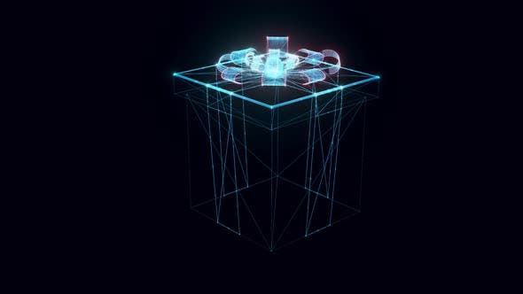 Gift Hologram Rotating 4k