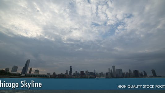 Thumbnail for Chicago Skyline Time Lapse (2 colors)