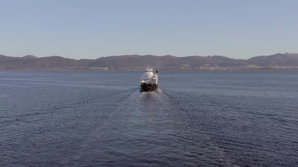 Thumbnail for Shuttle Ferry Service in Norway Transporting Passengers and Vehicles