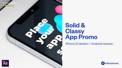 Solid App Promo 3d Mobile App Mockup Demonstration Video