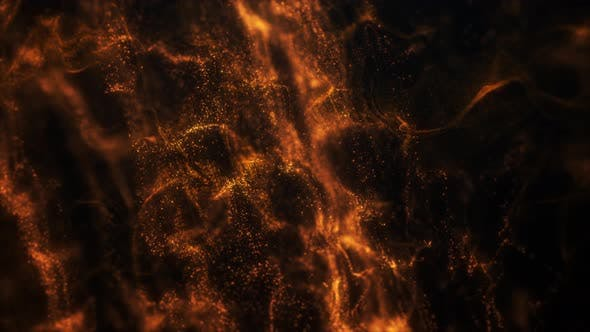 Thumbnail for 4K Gold Fire Particle Flow Background