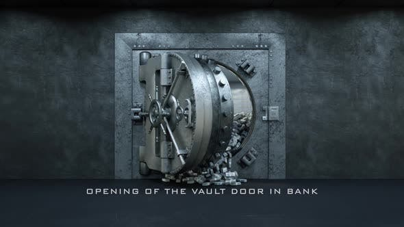 Thumbnail for Opening Of The Vault Door In Bank