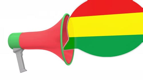 Loudspeaker and Flag of Bolivia on the Speech Bubble