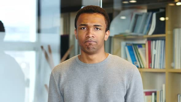 Thumbnail for Upset Sad Afro-American Man, Portrait