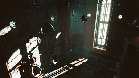 Thumbnail for Abantoned Old Public Toilet with Bright Lights