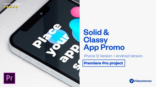 Solid App Promo Mobile App Mockup Demonstration Premiere Pro Project