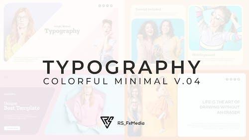 Typography Slide - Colorful Minimal V.04