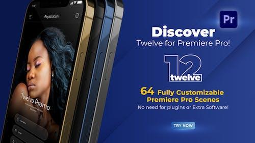 Twelve App Promo for Premiere Pro - MOGRT