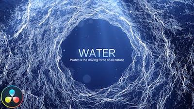 Water - Inspirational Titles - DaVinci Resolve