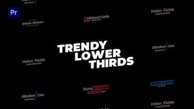 Trendy Lower Thirds MOGRT