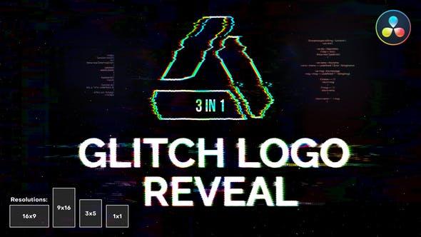 Glitch Logo Reveal   For DaVinci Resolve