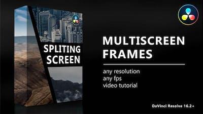 Multiscreen Frames for DaVinci Resolve