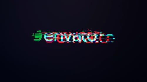 Minimal Glitch Logo Mogrt