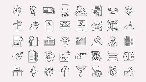 Business & Startup Line Icons