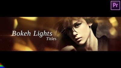 Bokeh Lights Titles