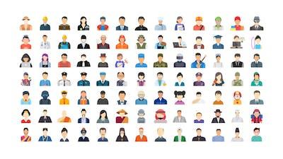 100 Human Avatars Icons