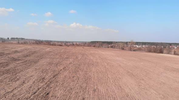 Gepflügte Feld. Landwirtschaftliches Feld