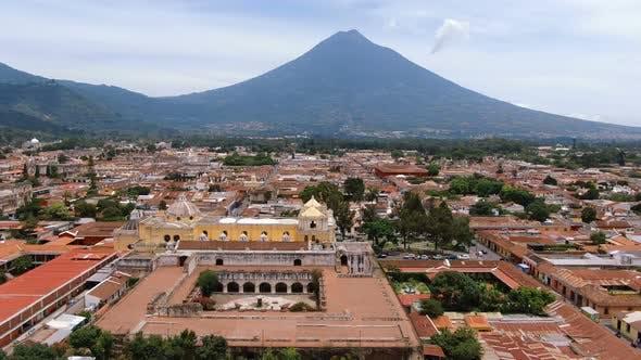 Thumbnail for Ancient Old Antigua Guatemala City Aerial