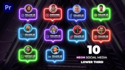 Neon Social Lower Thirds