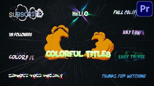 Colorful Titles   Premiere Pro MOGRT