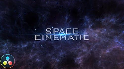 Space Cinematic Titles - DaVinci Resolve