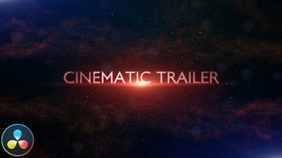 Cinematic Trailer Titles - DaVinci Resolve