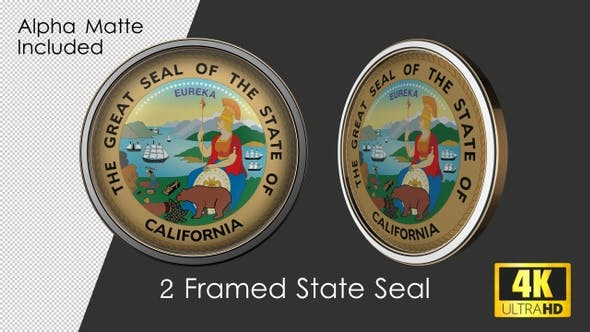 Thumbnail for Framed Seal Of California State
