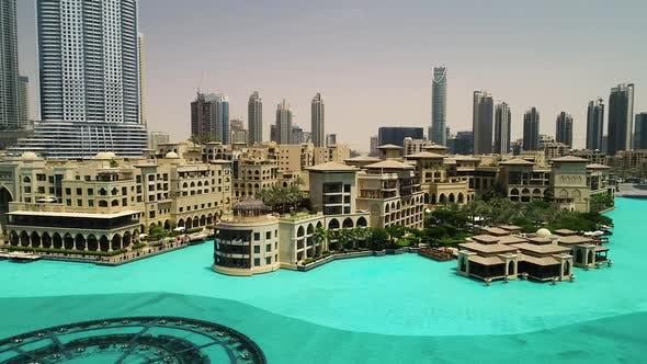 Thumbnail for Aerial high-dynamic-range image of the Dubai fountain, U.A.E.