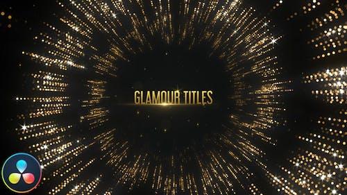 Glamour Titles - DaVinci Resolve