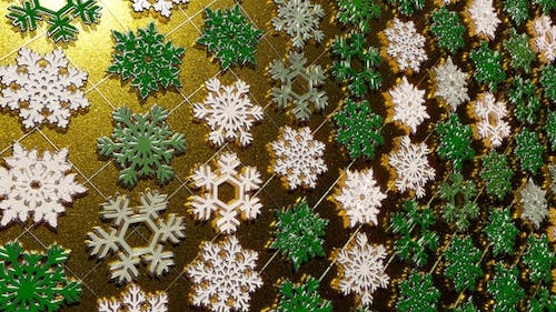 Rotating Silver Snowflakes Glitter 27