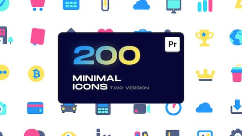 Minimal Animated Icons for Premiere Pro