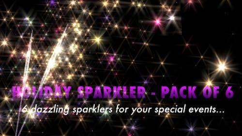 Holiday Sparkler Pack of 6