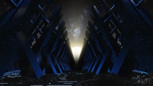 Flying On The Mountain In Sci Fi Meteorites 01 HD