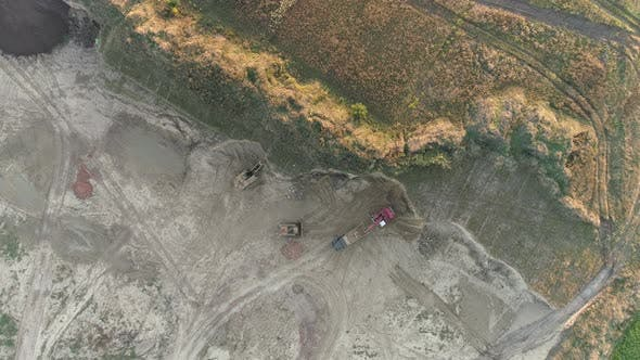 Thumbnail for Construction site seen from above