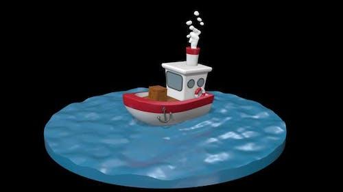 Cartoon Ship 01