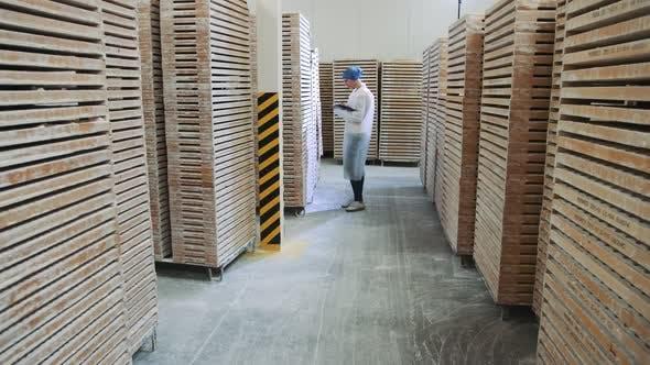 Controller Checking Factory Depot.