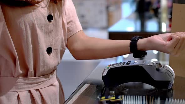 Thumbnail for Young Asian Woman Using Smartwatch Payment 05