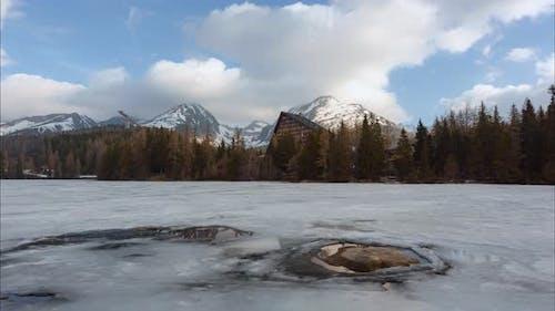 Lake Strbske Pleso in Spring Time