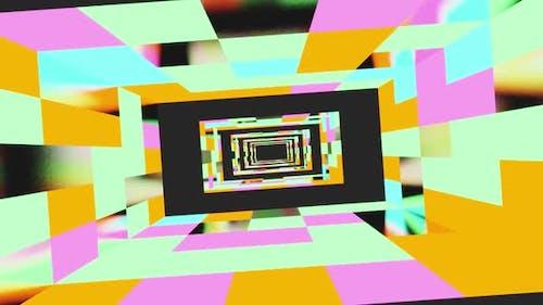 Colored Room Tunnel Vj Loop HD