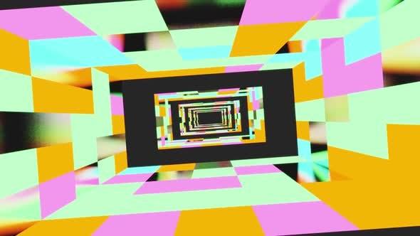 Farbige Zimmertunnel Vj Loop HD